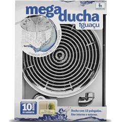 """Mega Ducha de Parede Iguaço 12"""" Cromada - Aquaplás"""