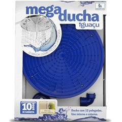 "Mega Ducha de Parede Iguaçu 12"" Azul - Aquaplás"