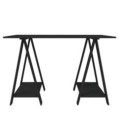 Mesa em Mdp com Cavalete Multiuso 80x120cm Preta - Multivisão