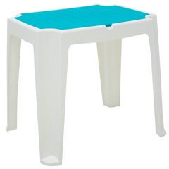 Mesa Infantil em Polipropileno Versa 62x71x56,5cm Branca E Azul - Tramontina