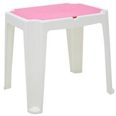 Mesa Infantil em Polipropileno Versa 62x71x56,5cm Branca E Rosa - Tramontina