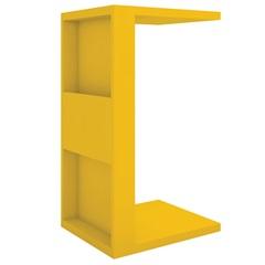 Mesa Lateral em Mdp Book 68x38,5cm Amarela - Líder Design