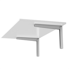 Mesa Retangular Dobrável 90x45cm Branca - Ordenare