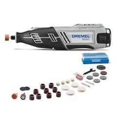 Microrretífica a Bateria 12v Ion de Lítio Bivolt Dremel 8220 com 30 Acessórios Cinza E Preta - Dremel