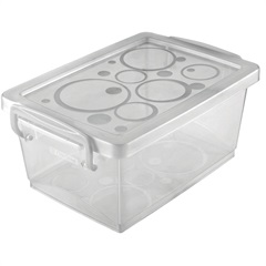 Mini Organizador com Alça 1,5litros Branca - Ordene