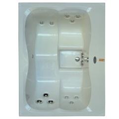 Mini Spa Retangular com 12 Jatos E Painel 170x130cm Branco - Jacuzzi