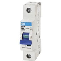Minidisjuntor Termomagnético Mdw Din Curva C 25a 1p - WEG