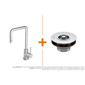 Misturador Monocomando de Mesa para Cozinha Bica Móvel Spin Cromado - Deca