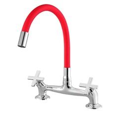 Misturador para Cozinha de Mesa com Bica Moldável 3006 C28 Ômega Vermelho - Meber