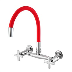 Misturador para Cozinha de Parede com Bica Moldável 3005 C28 Ômega Vermelho - Meber