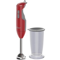 Mixer com Haste em Inox Versátile 250w 110v Vermelho - Oster