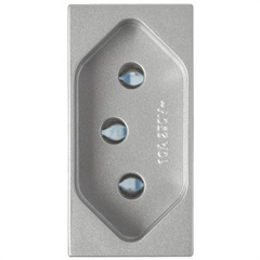 Módulo de Tomada 10a 250v Delta Alumínio - Siemens