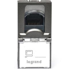 Módulo de Tomada Rj45 Arteor Magnésio  - Pial Legrand