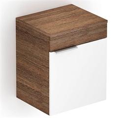 Módulo Extensão para Gabinete com 1 Porta Like Wengué E Branco - Celite