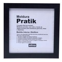 Moldura em Madeira Pratik 24cm Preto - Casa Etna