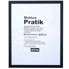 Moldura em Madeira Pratik 54x44cm Preto - Casa Etna