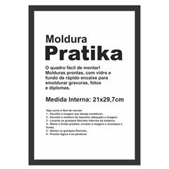 Moldura em Madeira Pratika 34x25cm Preta - Kapos