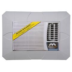 Moldura Regulável para Ar-Condicionado Branco - Molduflex