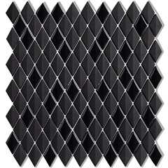 Mosaico Acetinado Prosa Diamond Black 29,6x30,9cm com 1 Peça - Portinari