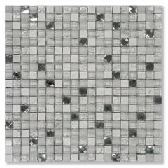 Mosaico Asteca Diamond White 30,5x30,5cm - Colormix