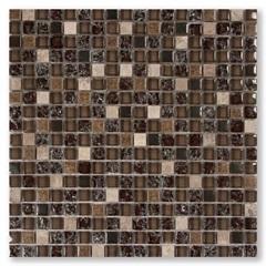 Mosaico Asteca Yacazi Marrom 30,5x30,5cm - Colormix