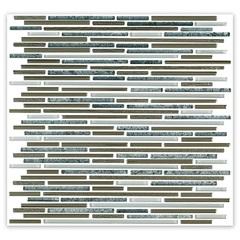 Mosaico Borda Bold Blend Line Grey 29,8x31,8cm com 1 Peça - Cerâmica Portinari