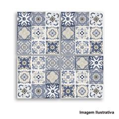 Mosaico Contemporâneo Azulejo Português Yellow 17,5x17,5cm