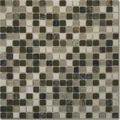 Mosaico de Vidro Fit Bege E Marrom 30,5x30,5cm - Colormix