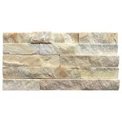Mosaico em Pedra Natural Canjiquinha Branco 15x30cm - Villas Deccor