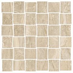 Mosaico Esmaltado Acetinado Borda Reta Wave Imperial Bege 30x30cm - Livre