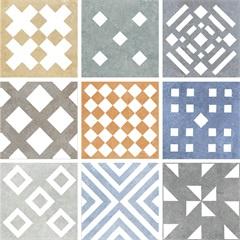 Mosaico Esmaltado Matiz 20x20cm com 9 Peças - Biancogres