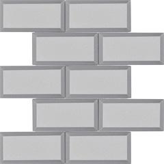 Mosaico Esmaltado Prosa Brick Silver 29,8x29,8cm com 1 Peça - Portinari