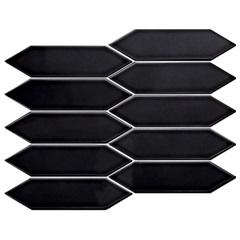 Mosaico Esmaltado Six Black 25,7x31,3cm - Portinari