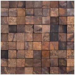 Mosaico Pedra Natural Ferrugem Mp 2111 Marrom 30x30cm - Casanova