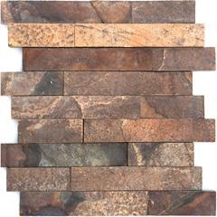Mosaico Pedra Natural Ferrugem Mp 3110 Marrom 30x30cm