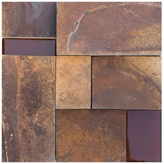 Mosaico Pedra Natural Ferrugem Qr 191 Marrom 30x30cm - Casanova