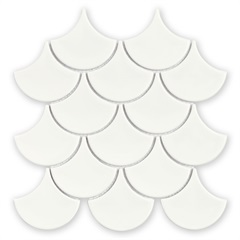Mosaico Ritmos Wh Branco 25,9x27,3cm - Portinari