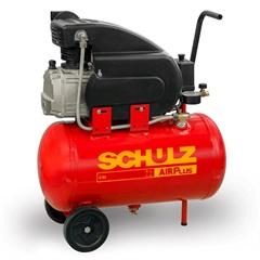 Motocompressor de Ar de Pistão com Rodas Air Plus Csi 8.5/25 Monofásico 60hz 110v Vermelho - Schulz