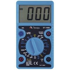 Multímetro Digital com Display de 3.1/2'' Dígitos Et-1000 Azul - Minipa