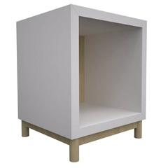 Nicho de Chão em Madeira 47,5x40cm Branco - Muve Design