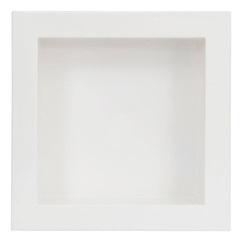 Nicho de Embutir em Mármore Sintético 30x30cm Branco - Líder Gabinetes