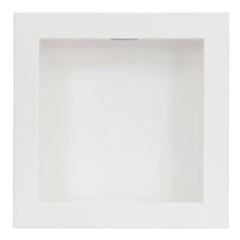 Nicho de Embutir em Mármore Sintético com Led 30x30cm Branco - Líder Gabinetes