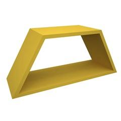 Nicho em Madeira Half 54x25cm Amarelo - Muve Design