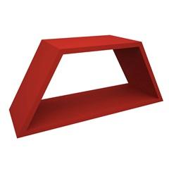 Nicho em Madeira Half 54x25cm Vermelho - Muve Design