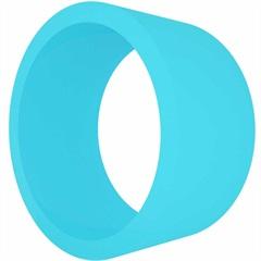 Nicho em Mdf Redondo 39cm Azul Turquesa - Decorprat