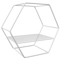 Nicho Hexagonal em Aço 30cm Branco - Zamar