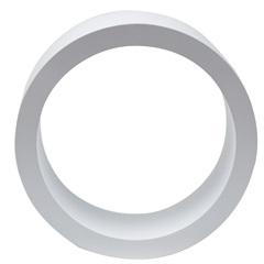 Nicho Redondo 39cm Branco - Decorprat