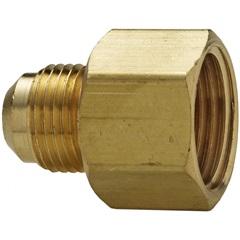 """Nilpe em Metal para Instalação de Gás 3/8x1/2"""" Dourado - Blukit"""