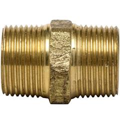 """Níple Duplo em Latão 1"""" Dourado - Ramo Conexões"""