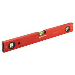 Nível em Alumínio Tipo Box 18'' 3 Bolhas 450mm Vermelho E Cinza - Worker